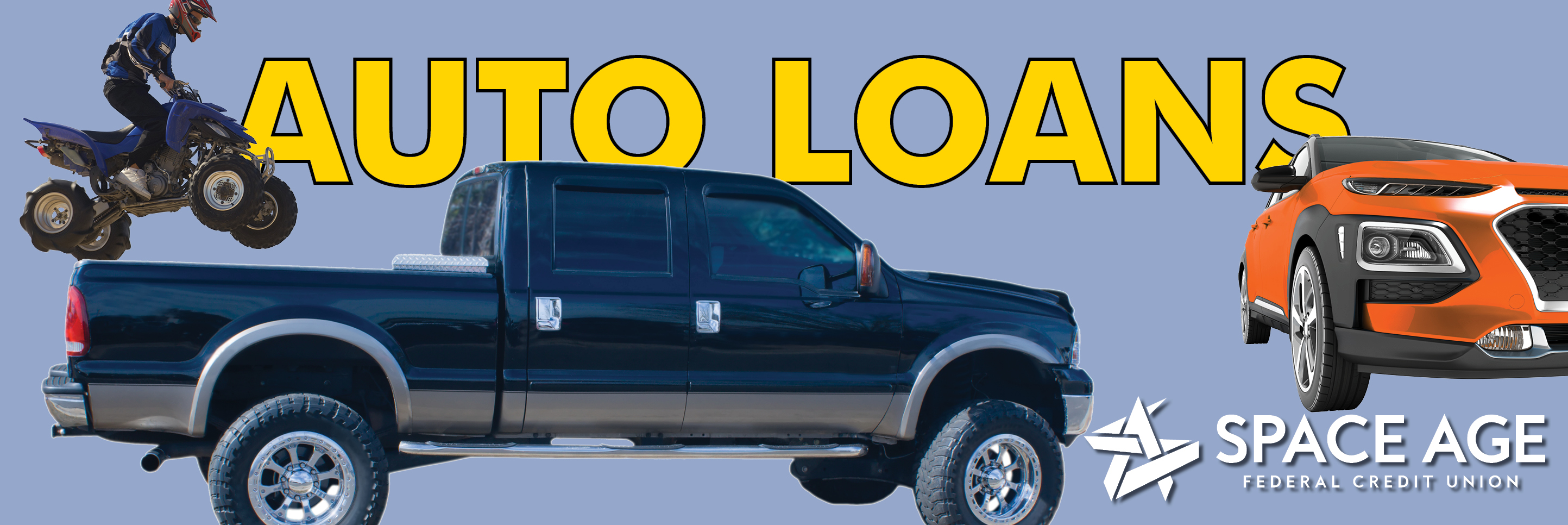 Let Space Age help you get back on the road with a new Vehicle Loan