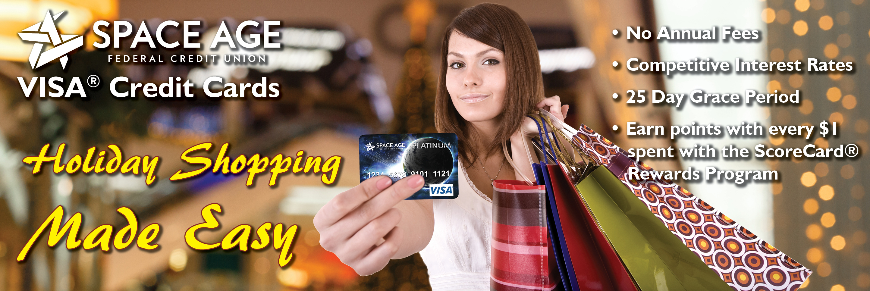 Holiday Shopping Made Easy with Visa Credit Cards